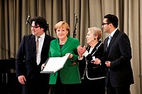 Jewish Community of Berlin gives Chancellor Angela Merkel the Heinz Galinski Prize 2012 with presence from Berlin's mayor Klaus Wowereit, former Feder...