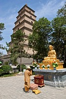 Buddhist Praying, Big Wild Goose Pagoda, Xi´an, China