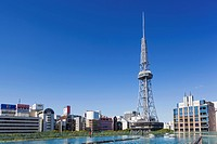 Japan, Honshu, Aichi, Nagoya, Nagoya TV Tower and Oasis 21 Building