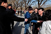 BEIJING _ MAR 14:Chinese Singles meet at Summer Palace in Beijing China on March 14 2009 Due to China one_child policy the birth ratio is about 120 bo...