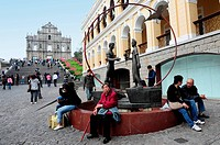 MACAU _ FEB 20:Visitors at Ruins of St Paul´s Cathedral on February 20 2009 in Macau, China The ruins are one of Macau´s most famous landmarks Photo b...