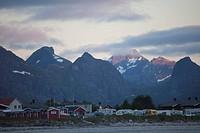 Campingplatz im Abendlicht, Ramberg, Lofoten