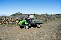 Erreppi Speedy 4x4 agricultural all terrain vehicle in Santiago del Teide, Tenerife, Canary Islands, Spain