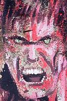 Wandbild eines aggressiven Mannes, Chiang Mai, Thailand, Südostasien Mural of an aggressiv man, Chiang Mai, Thailand, Südostasien