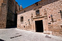 Typical facade of Home 16th century, Sabiote, Jaen province, Spain
