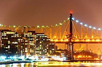 Roosevelt Island, East River, Queensboro Bridge, Manhattan, New York City, USA