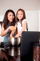 Baking Cookies Recipe on Digital Tablet