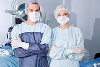Young confident surgeons