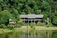 Orang Ulu Tribal Longhouse in Rain Forest Sarawak Borneo Malaysia