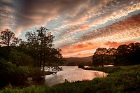 Sunset over Rydal Water in Lake District