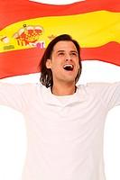 jubelnder Spanien Fan