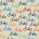 Retro bicycle pattern