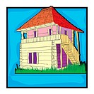 country house clip art