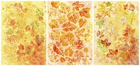 Abstract backgrounds, watercolor, leafs