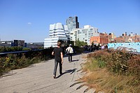 High Line Park, elevated public park on former rail tracks, Manhattan, New York City, United States of America, North America