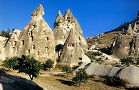 Troglodyte Dwellings; old traditional House; Cappadocia; Uchisar; Turkey