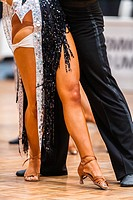 Couple at latin dancing at a dancing competition, Germany, Europe