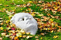Stone autumn face