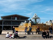 France, Paris, la Villette square, the Grande Halle