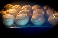 typical english scones in the oven