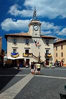 Italy, Abruzzo, Pescocostanzo, town hall