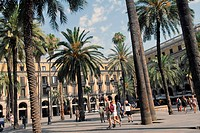 Spain, Barcelona, Plaza Real
