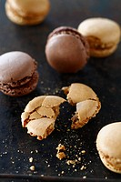 Chocolate and toffee macaroons