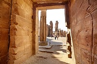 Luxor, Egypt - ruins of the Luxor Temple of Amun, Upper Egypt