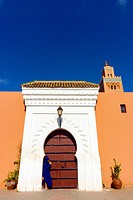 The gate of the Koutoubia Mosque, Marrakech (Marrakesh), Morocco.