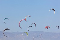 Torremolinos, Spain. Kite surfing.