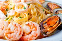 fettuccine and seafood