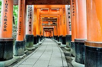 Details of the Fushimi-Inari-Taisha shrine, Kyoto, Japan, Asia