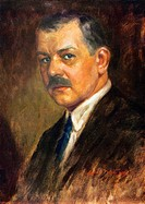 FRANZ LEHAR (1870-1948). Hungarian composer. Painting by Ludwig Nauer (1888-1965).
