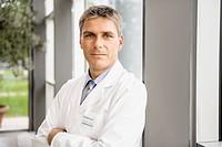 Doctor standing in hallway