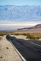 empty road in Death Valley National Park, California, USA