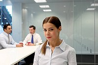 Businesswoman sitting in meeting room