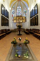 Tomb of Johann Sebastian Bach, Thomaskirche church, Leipzig, Saxony, Germany, Europe
