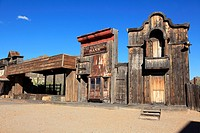 The film set of the High Chaparral in Old Tucson Studios. Tucson. Arizona. USA
