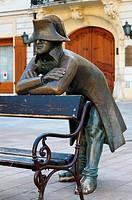 Napoleon bronze statue in Bratislava