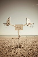 basketball hoop on the beach, Valencia