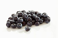Blueberries on white background, close up