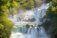 Croatia - autum scenery in Krka National Park, waterfall on the Krka River, Croatia