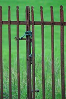 Rusted old gates, County Westmeath, Ireland