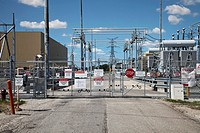 The Front Gate Of Electric Power Generating Station;Ontario Canada
