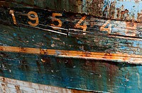 Details of a ship wreck in the port of Camaret-sur-Mer