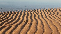 Patterns In The Sand On Bouznika Beach In Morocco, Africa