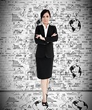 Attractive businesswoman with arms folded