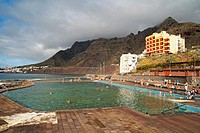 Low tide pools on the island of Tenerife