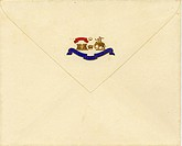 Royal Envelop with Coat of Arms Early 20th century , Kutch , Gujarat , India