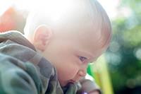 Thoughtful baby boy